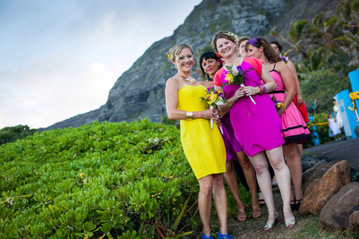 Picture, destination wedding makeup artist Belinda Leybold, Hawaii wedding