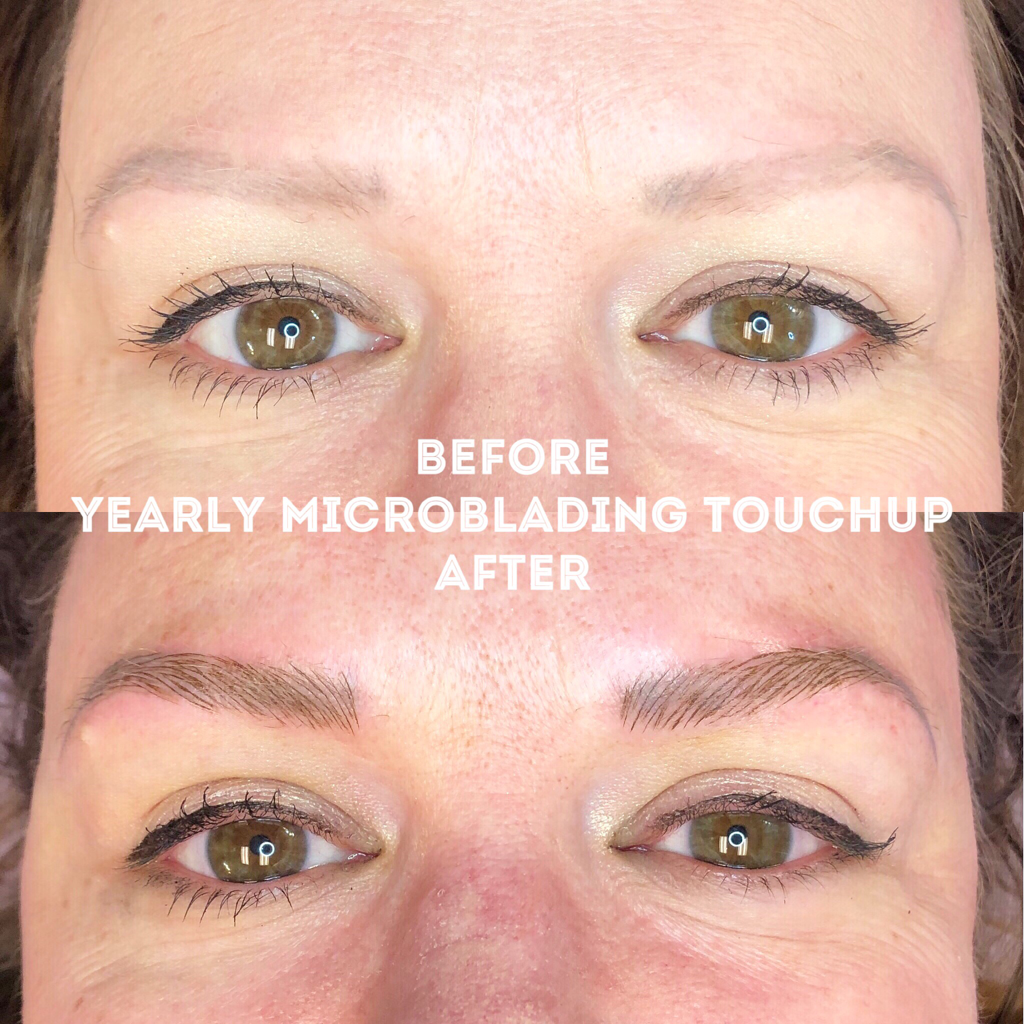 Picture eyebrow Microblading by Belinda Leybold